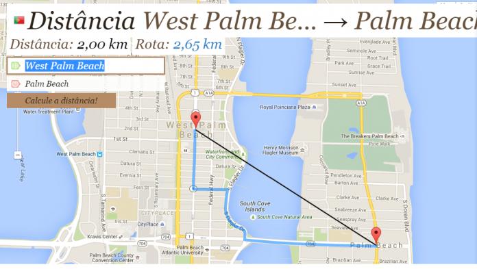 Palm beach mapa 2