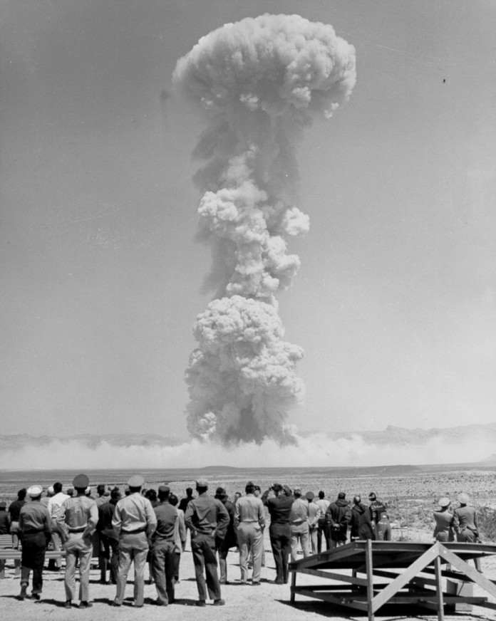 The-first-nuclear-bomb-test-