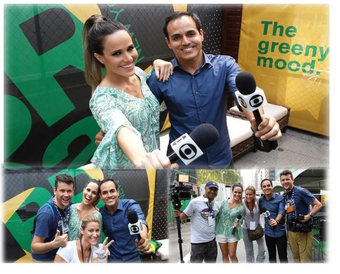 Eliseu, Fernanda Pontes e equipe.